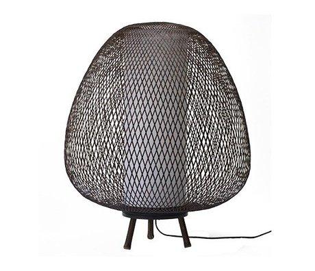 Ay Illuminate Tafellamp Twiggy Egg bruin bamboe Ø60x70cm