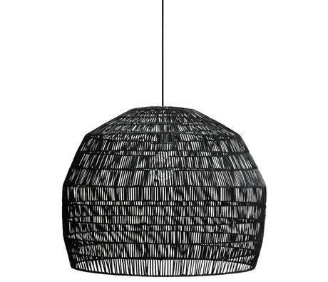 Ay Illuminate Hanglamp Nama 3 zwart rotan ø72x57cm