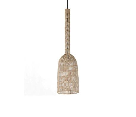 Ay Illuminate Hanglamp Umut 2 naturel bruin rotan ø30x121cm