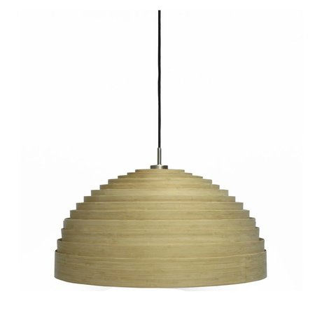 Ay Illuminate Hanglamp Lump Medium naturel bruin bamboe ø75x38cm