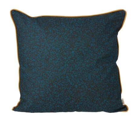 Ferm Living Sierkussen Terrazzo donker blauw organisch katoen 50x50cm