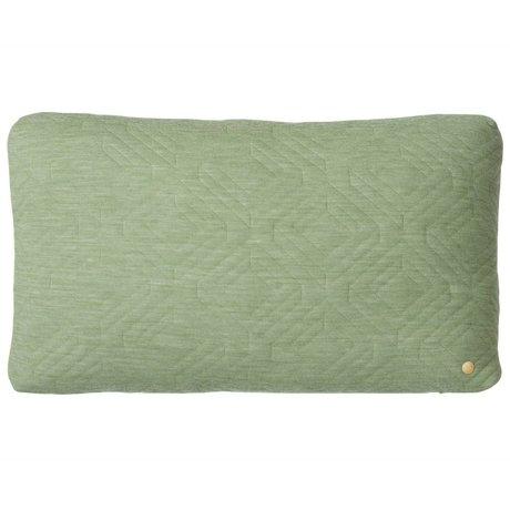 Ferm Living Sierkussen Quilted groen 60x40cm