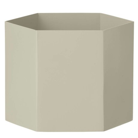 Ferm Living Pot Hexagon grijs Ø18x16cm- Extra large
