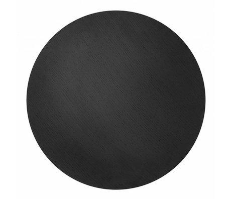 Ferm Living Blad voor metalen mand Ø50cm zwart eiken fineer