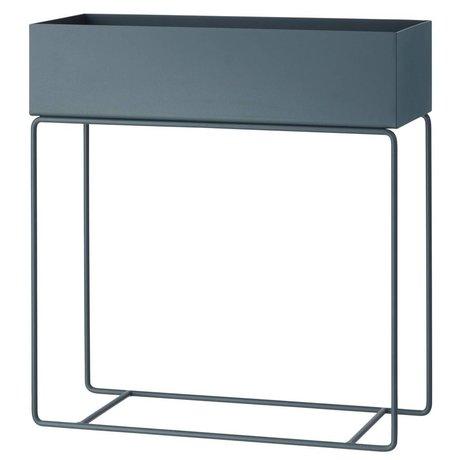 Ferm Living Box voor plant donker grijs metaal 60x25x65cm