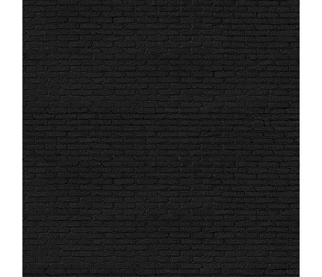 NLXL-Piet Hein Eek Behang Black Brick papier zwart 900 x 48,7 cm