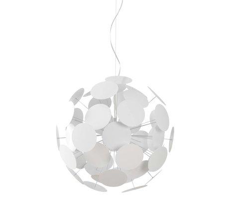 Zuiver Hanglamp Plentywork metaal wit Ø65x185cm