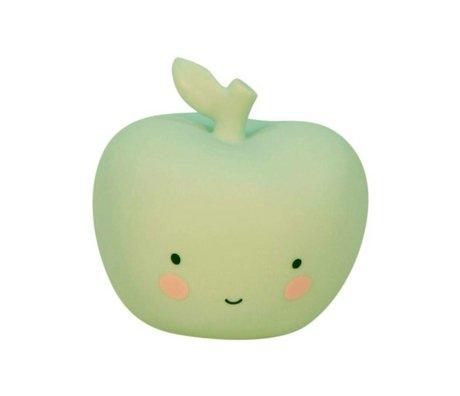 A Little Lovely Company Lamp appel mint groen 9x9x8,5cm