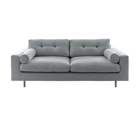 I-Sofa Bank Gilmour 3 zitsbank licht grijs 214x80x90cm
