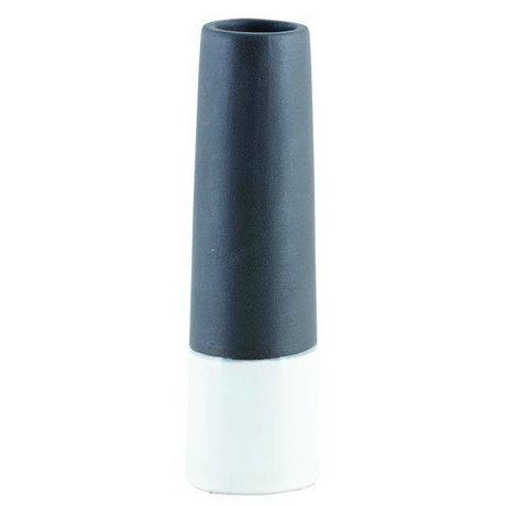 Housedoctor Vaas 'Tube XS' zwart wit beton Ø6x20cm