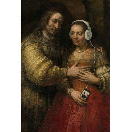 Arty Shock Schilderij Joodse Bruidje Rembrandt M multicolor plexiglas 80x120cm