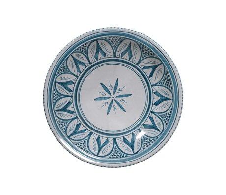 HK-living Schaal souk groot C grijs blauw aardewerk 33x33x8cm