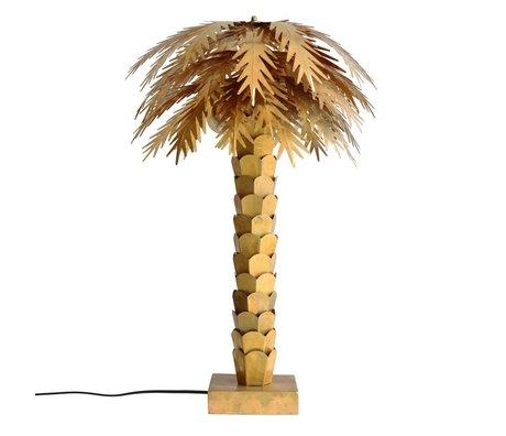 HK-living Tafellamp Palm goud messing 45x45x68cm