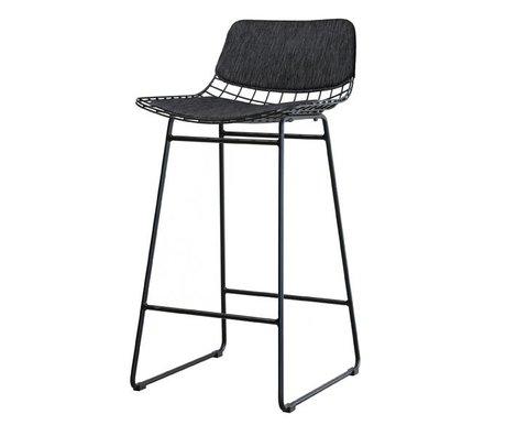 HK-living comfort kit zwart voor metalen draad barkruk