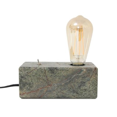 HK-living Tafellamp Forest Marble groen marmer 18x9x7cm