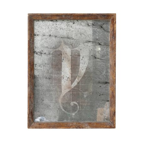HK-living Spiegel bruin hout 25x32,5x3,5cm