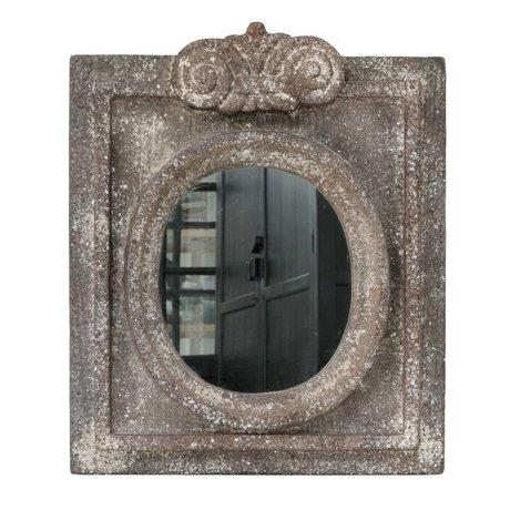 HK-living Spiegel met antiek look grijs aardewerk 50x61x5cm