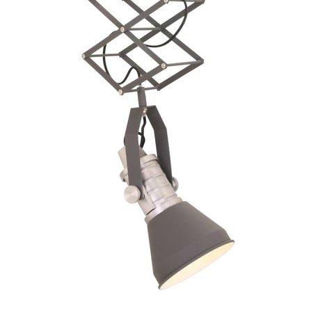 Anne Lighting Hanglamp Brusk antraciet grijs metaal ø16x50-145cm