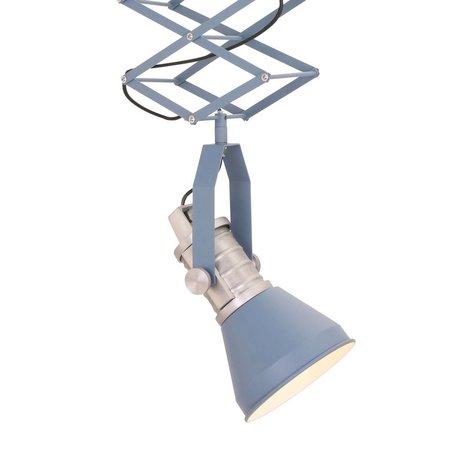 Anne Lighting Hanglamp Brusk blauw metaal ø16x50-145cm