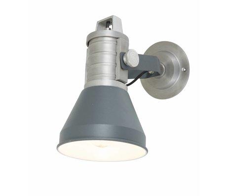 Anne Lighting Wandlamp Brusk antraciet grijs metaal ø16x35x27cm