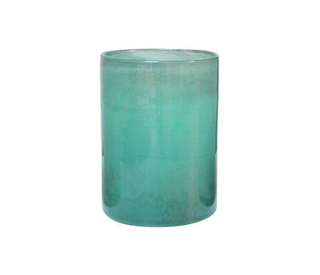HK-living Vaas handgeblazen groen glas 12x12x17cm