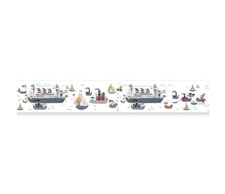 KEK Amsterdam Behangrand Fiep Westendorp Holland America Line multicolor 16x500cm