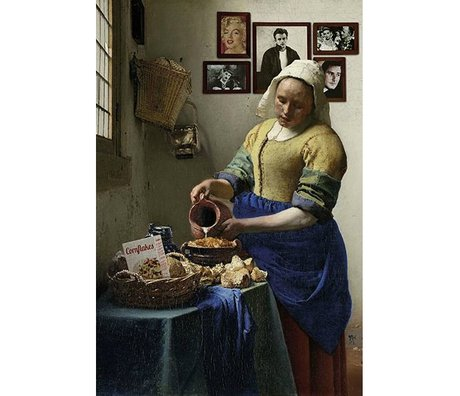 Arty Shock Schilderij Vermeer Melkmeisje XL multicolor plexiglas 150x225cm