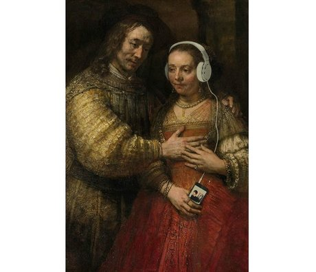 Arty Shock Schilderij Joodse Bruidje Rembrandt L multicolor plexiglas 100x150cm