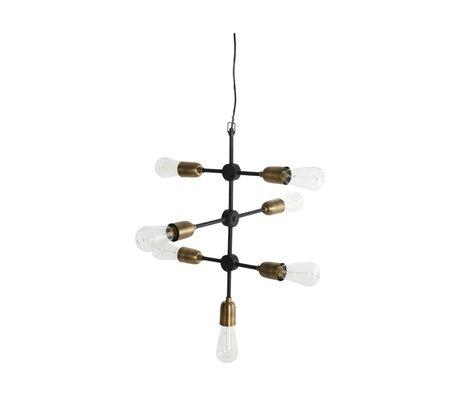 Housedoctor Hanglamp Molecular zwart goud metaal 58x48cm