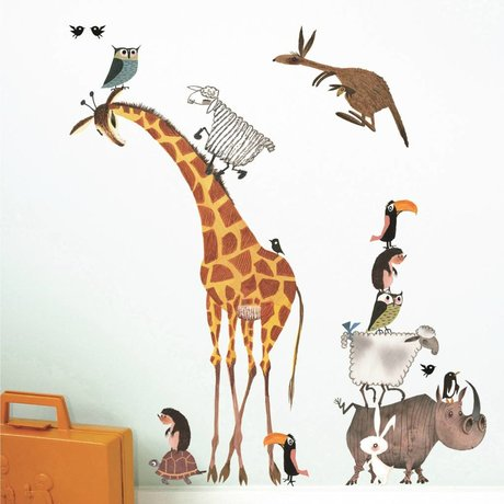 KEK Amsterdam Muursticker Fiep Westendorp Animals set multicolor 42x59cm