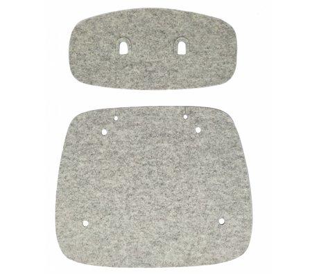 Tristan Frencken Zitpad Bent Skin Lounge Marble grijs wolvilt 47,5x55x5cm