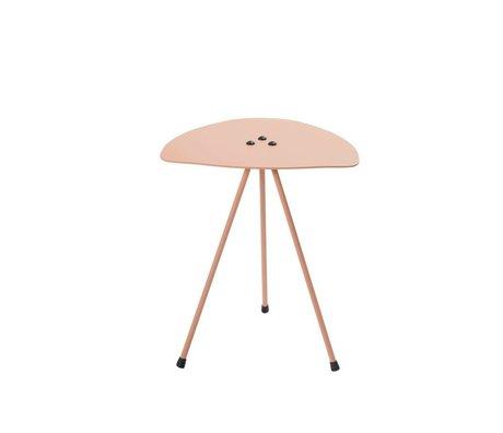 Tristan Frencken Bijzettafel Bent Table Blush roze aluminium 45x38x38cm
