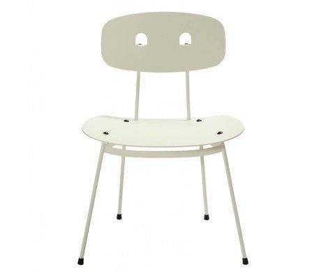 Tristan Frencken Loungestoel Bent Lounge Milk wit aluminium 69x55x47,5cm