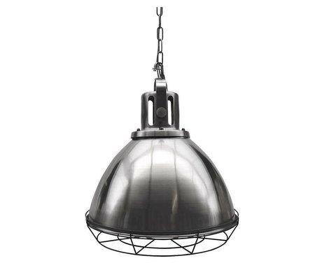 LEF collections Hanglamp Spot antiek zilver grijs metaal 47x47x45cm