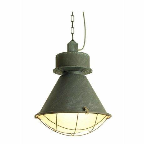 LEF collections Hanglamp Duisburg Zink grijs metaal 48x48x58cm
