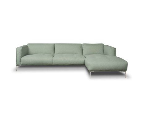 I-Sofa Hoekbank Oliver mintgroen textiel 296x85x74cm