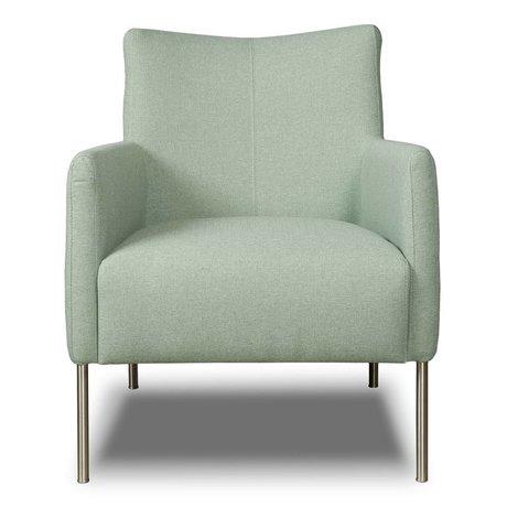 I-Sofa Fauteuil Nora mint groen textiel 77x67x79cm
