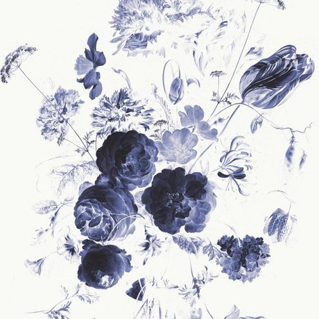 KEK Amsterdam Behang Royal Blue Flowers I multicolor vliespapier 292,2x280cm