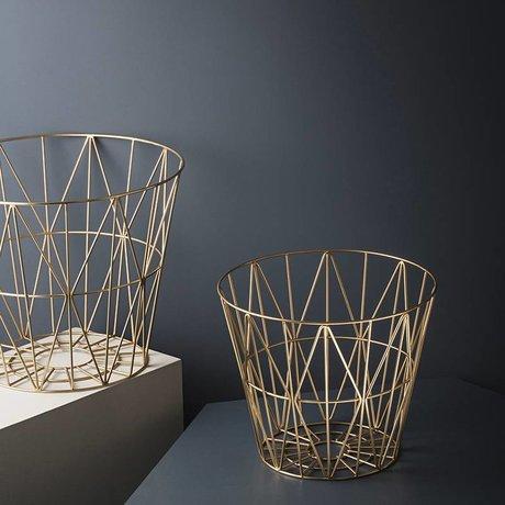 Ferm Living Mand brass goud ijzer 40x35cm Wire Basket