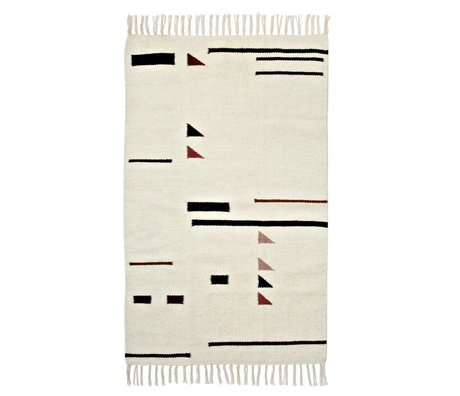 Ferm Living Vloerkleed Colour Triangles multicolour textiel 80x140cm