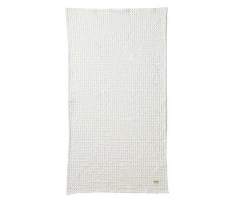 Ferm Living Handdoek Organic wit textiel 50x100cm
