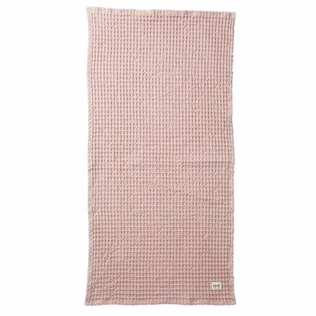 Ferm Living Handdoek Organic roze textiel 50x100cm