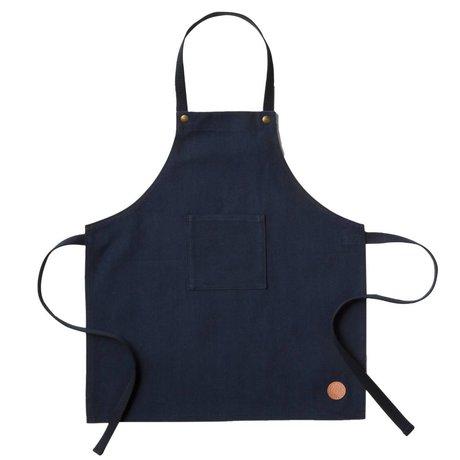 Ferm Living Keukenschort Apron Kids blauw textiel 45x50cm