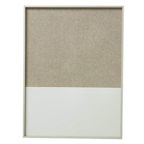 Ferm Living Prikbord magneetbord Frame Pinboard grijs 82x123x3,5cm