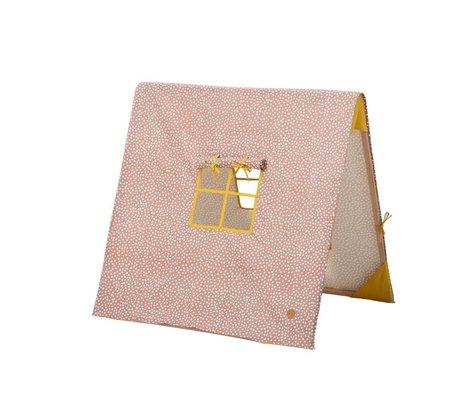 Ferm Living Tent Dots inklapbaar roze katoen/hout 100x100xcm