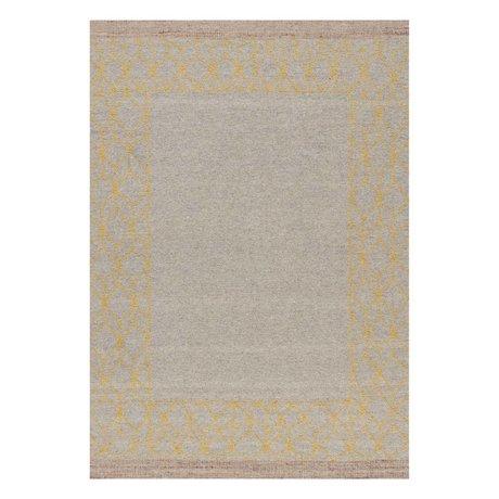 LEF collections Vloerkleed Mantua beige geel wol acryl in 3 maten