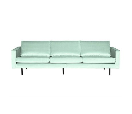 BePureHome Bank Rodeo 3-zits mint groen velvet 78x274x87cm