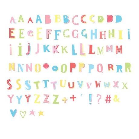 A Little Lovely Company Letters Lightbox Funky kleur 6,5x7cm