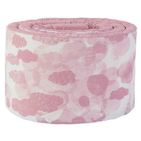 Sebra Baby bumper roze katoen 345x4x30cm