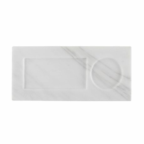 Zuiver Dienblad marble white, marmer wit 22x10x1,5cm